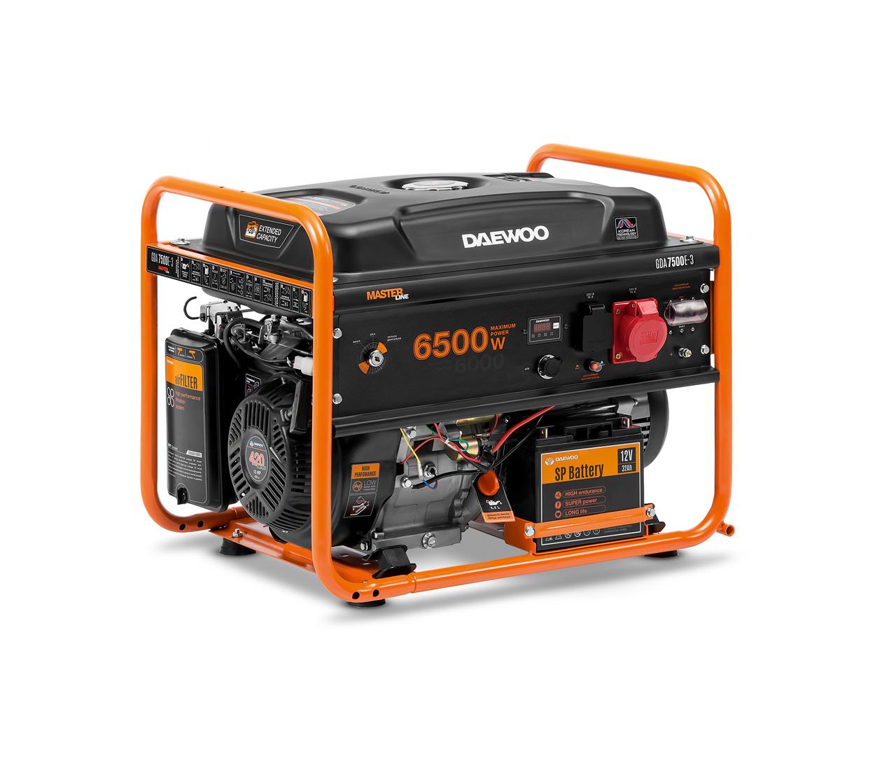 Бензиновый генератор (Бензогенератор) DAEWOO GDA 7500E-3