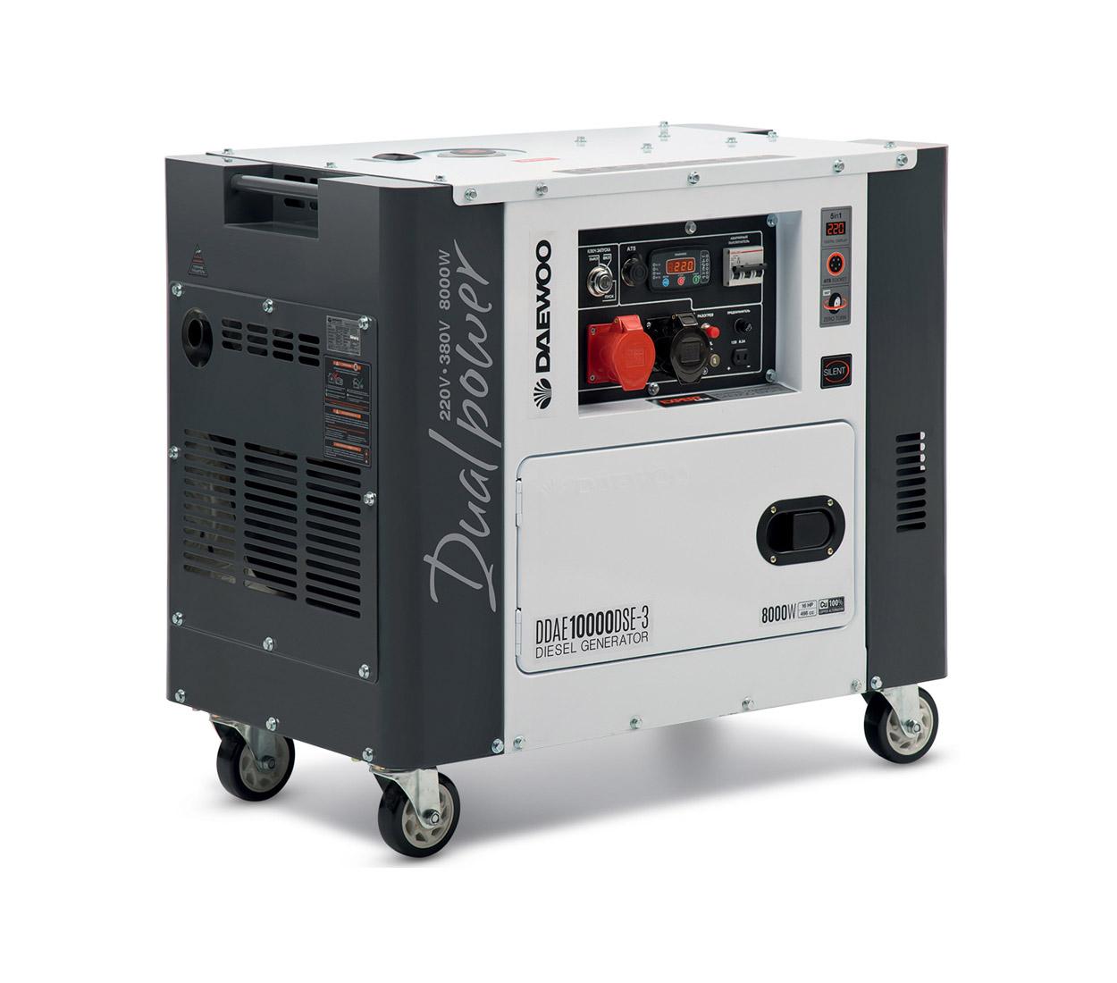 Дизельный генератор (электростанция) DAEWOO DDAE 10000DSE-3