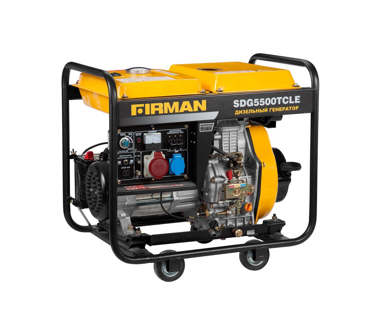 Дизельный генератор (электростанция) Firman SDG5500TCLE