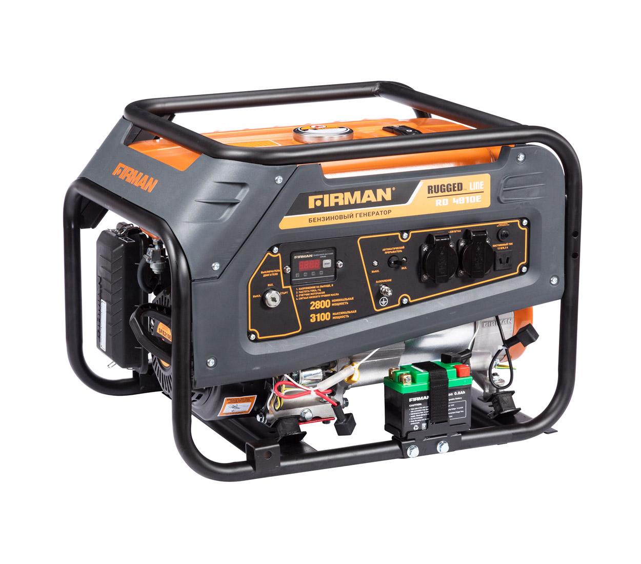 Бензиновый генератор (Бензогенератор) Firman RD4910E