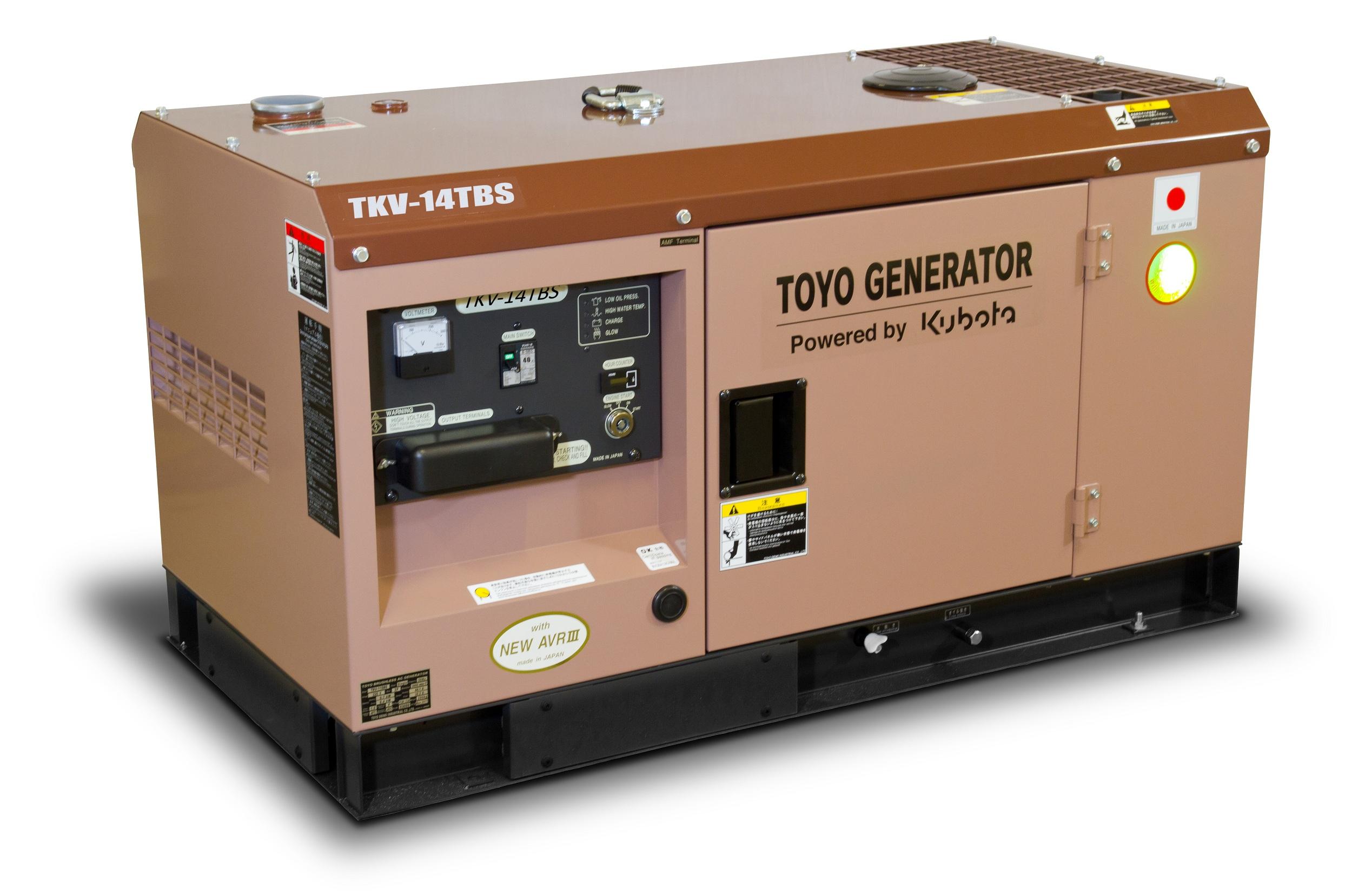 Дизельный генератор (электростанция) TOYO TKV-14TBS